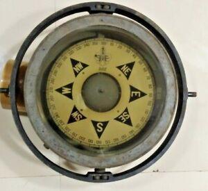 OLD SALVAGED MARINE ANTIQUE SHIP SESTREL BRASS COMPASS 1 PCS