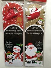 CHRISTMAS MESSAGE TO SANTA DOOR HANGER & CHALK, CHILDREN WRITE OWN NAME ON