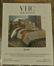 """New Vhc Brands Rory King Pillow Sham 21"""" x 37"""" - Brown King Block Patchwork"""