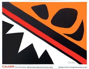 Alexander Calder La Grenouille Pace Lithograph Poster 25 x 32