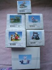 Charming Tails Lot of 6 Figurines, Touchdown, Luck, Wishing wWell, Apple, The Ra