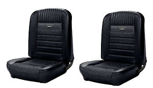 1966 Ford Mustang Convertible Front and Rear Deluxe Pony Seat Upholstery