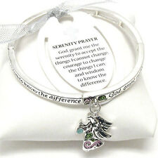 Serenity Prayer Angel Religious AA AL-ANON Recovery Inspirational  Bracelet