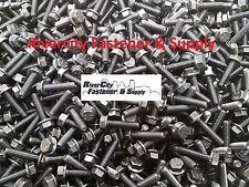 (100) M6-1.0 x 25 / M6x25 Metric Hex Flange Bolts Grade 8.8 DIN 6921 6mm x 25mm