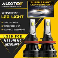 2X AUXITO H8 H11 H9 LED Headlight Bulbs Kit Low Beam 6000K White 20000LM Z1 EOA