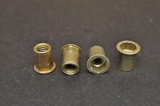 "4 NOS New Excelsior Henderson Rear Fender Threaded Hex Insert Nut 3/8""-16 x 3/4"""