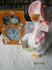 """NEW Cuddle Barn Pink """"Mother Goose"""" Song Motion 14"""" Animated Plush & clock"""