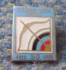 POLAND dist POZNAN FEDERATION ARCHERY 50 ANNIVERSARY /1928-1978/ENAMEL PIN BADGE