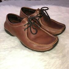 BRUNO MAGLI Mens Brown Leather Lace Up Moccasin Comfort Shoes Sz 8