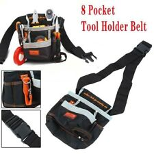 8 Pocket Tool Pouch Belt Bag Slot Storage Holder Electrician Nylon Canvas