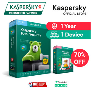Kaspersky Total Security License Key | 1 Year | 1 Device | Global Key