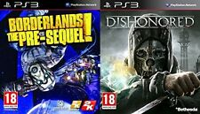 dishonored USED   &   borderlands the pre-sequel NEW&SEALED      PS3  PAL FORMAT