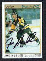 Joe Mullen #153 signed autograph auto 1992 O-Pee-Chee Premier Hockey Card