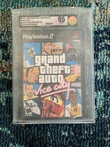 GTA Grand Theft Auto Vice City Playstation 2 PS2 New VGA Graded 95 Mint Gold