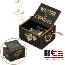 """""""Game of Thrones"""" Wooden Handmade Hand Crank Music Box Birthday Kids Toy Gift"""