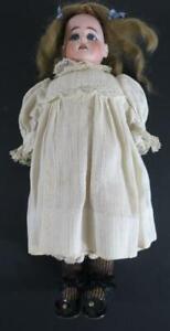 "Antique Ernst Heubach Bisque Head Doll - 13"" Tall"