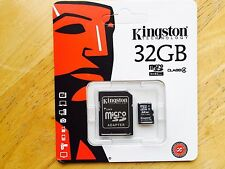 KINGSTON 32GB Micro SD MicroSD SDHC TF Memory Card + Adapter Class 4 CLEARANCE!!