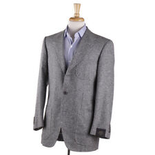 NWT $3295 SARTORIA PARTENOPEA Gray Donegal Silk-Wool Sport Coat 38 R (fits 40)