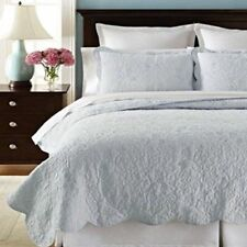 Martha Stewart Collection Whisper Leaves Quilted Standard Sham - Blue - NIP