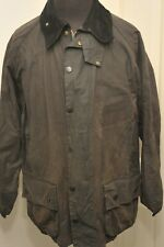 "UNUSUAL BARBOUR WAX COTTON A145 BEAUFORT JACKET BLACK 44"" / 112CM"