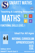 Functional Skills Level 1 Maths & English Completed Teacher/Tutor Package