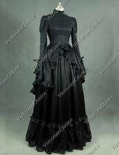 Gothic Victorian Black Witch Dress Ghost Steampunk Halloween Costume 324 XXL
