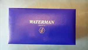 WATERMAN PARIS Fountain Pen Pencil Blue EMPTY Box Case Only