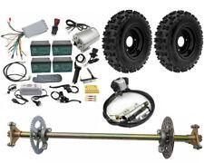 """Complete Kit Go Kart Rear Axle 6"""" Wheels 1800w Brushless motor Quad Trike Drift"""
