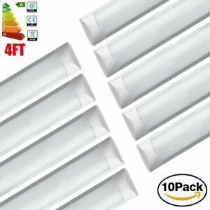 10PCS 4FT 120CM Slim LED Wide Batten Tube Light Ceiling Strip Bar Light Daylight