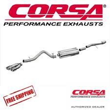 "CORSA 3.5"" Cat Back Single Exhaust Kit For 14-18 GMC Sierra 1500 CC/SB 6.2L"