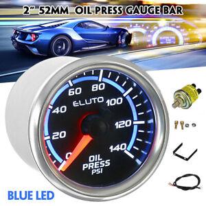 "2"" 52mm Car Pointer LED Display PSI Oil Pressure Press Gauge Meter & Sensor"