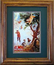 UMC Cartridges Old Advertising  Poster Reproduction with Mountain Lion & Hunter