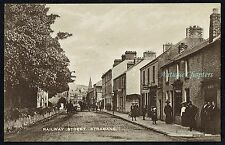 c.1910 Railway Street Railway Bar Strabane Tyrone Northern Ireland Postcard B34