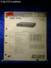 Sony Service Manual SEQ 910 Graphic Equalizer  (#0942)