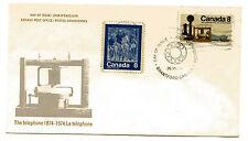 Canada 641 Telephone Centenary, Fdc