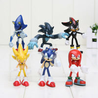 Sonic The Hedgehog PVC Action Figure 6PCS Set Christmas Gift Kids Toy Collection