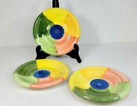 Bella Ceramics Alfresco Bread and Butter Plate Saucer Set of Three 7 Inch