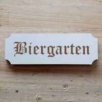 Herzschild Holzherz Holzschild 16 x 16 cm Biergarten wei/ß Dekoschild Wandschild Schild Holz Geschenk