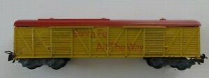 Piko, Pico, H0, DR, 4 achsiger Güterwagen, Santa Fe, gelb, guter Zustand, Rar !