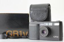 [EXC+5 in Box] Ricoh GR1V Black 35mm Point Shoot Film Camera Hood From Japan 743