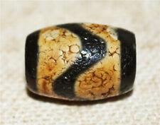 tibetan ancient genuine water wave dzi bead real gzi antique old amulet bracelet