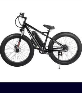 26 500w 36v Black Electric Fat Tire Bicycle E Bike