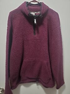 *Victorias Secret PINK 1/4 Zip SHERPA High-Neck Pullover Sweatshirt Jacket-NWOT*