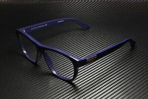 GUCCI GG0768O 003 Rectangular Squared Blue Shiny 54 mm Men's Eyeglasses