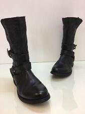 Steve Madden Kristenn Black leather Moto Boot Size 7.5M