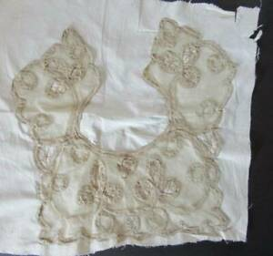 Antique Hand Made Lace Collar New Old Stock Bobbin Tape