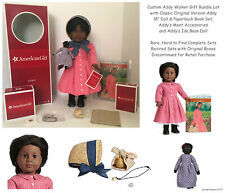 "Retired American Girl 18"" Classic Addy Doll & Accessories + Addy's Ida Bean Doll"