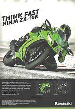 Kawasaki ZX-10R Ninja Motorcycle - Original Single-Page Motorcycle Magazine Ad