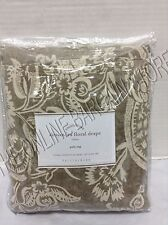 Pottery Barn Alessandra Floral Drapes Curtains Panels 50x63 Gray BLACKOUT LINER