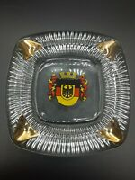 "Vintage Glass Ash Tray Deutschland Germany 5 1/4"" x 5 1/4"" - Excellent Condition"